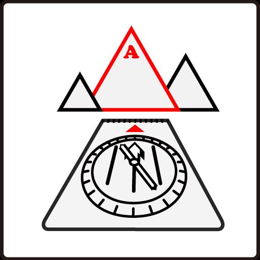 登山地図とコンパスの使い方 - 対象にコンパスのトラベルラインを向ける