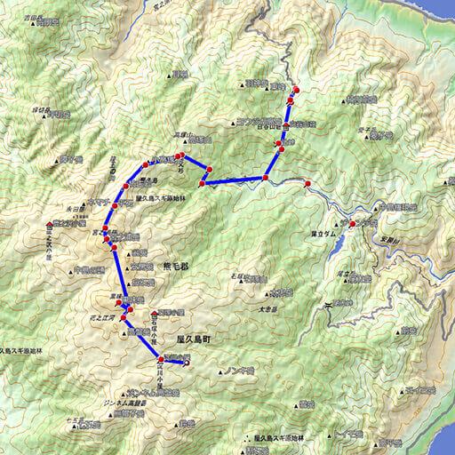 登山でGPS活用 実践ルート - 鹿児島登山サークル