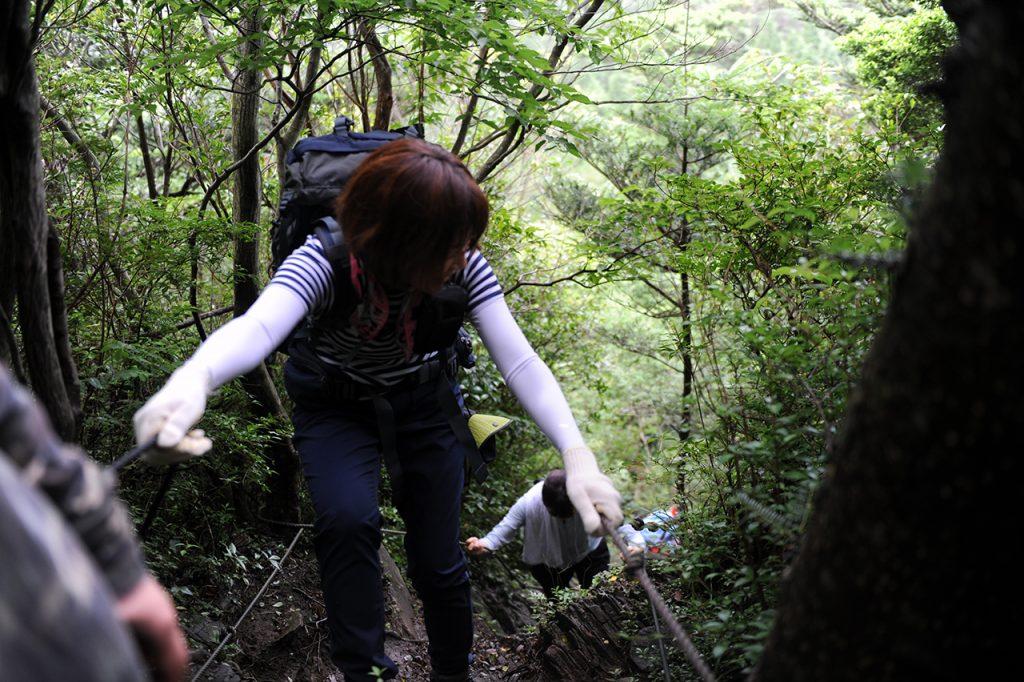栗野岳登山 枕木階段~栗野岳温泉側